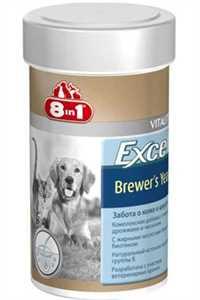 8in1 Excel Brewers Yeast Köpekler için Sarımsaklı Multivitamin Tablet 140 Adet