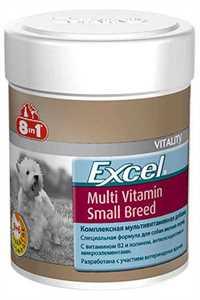 8in1 Excel Yetişkin Küçük Irk Köpekler için Multivitamin Tablet 70 Adet