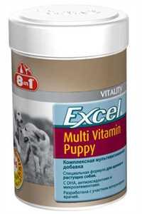 8in1 Excel Puppy Yavru Köpekler için Multivitamin Tablet 100 Adet