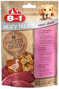 8in1 Meaty Treats Ördekli Kurutulmuş Tahılsız Köpek Ödül Maması 50gr