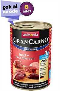 Animonda Biftek ve Hindi Etli Yavru Köpek Konservesi 6x400gr (6lı)