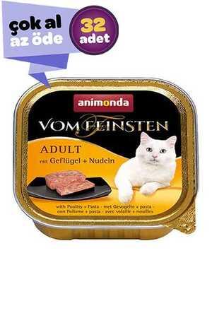 Animonda Kümes Hayvanı ve Makarnalı Kedi Konservesi 32x100gr (32li)