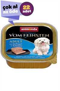 Animonda Kümes Hayvanı ve Morina Balıklı Yetişkin Köpek Konservesi 22x150gr (22li)