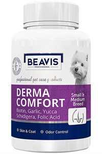 Beavis Derma Comfort Küçük Irk Köpekler İçin Biotin ve Probiyotik Katkılı Sarımsaklı Bira Mayası Destekli 75gr 150 Tablet