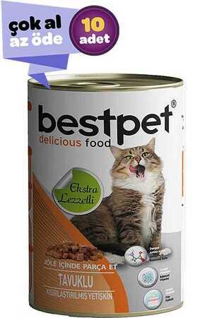 Bestpet Tavuklu Kısırlaştırılmış Kedi Konservesi 10x415gr (10lu)