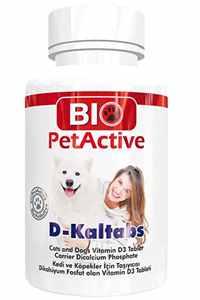 Bio PetActive Köpekler için Kalsiyum ve D Vitamini 84 Tablet