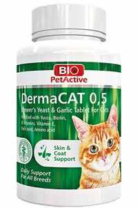 Bio PetActive Dermacat Kedi Deri ve Tüy Sağlığı Destekleyici Sarımsaklı Tablet 150 Tablet