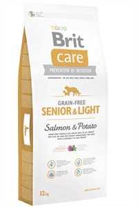 Brit Care Senior & Light Tahılsız Somon ve Patatesli Yaşlı Köpek Maması 12kg