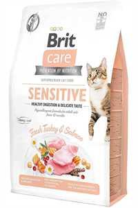 Brit Care Hassas Mideli Kediler İçin Hindili ve Somonlu Yetişkin Kedi Maması 7kg