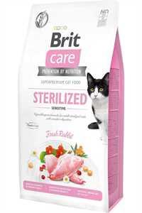 Brit Care Kısırlaştırılmış Tavşanlı Hassas Yetişkin Kedi Maması 7kg