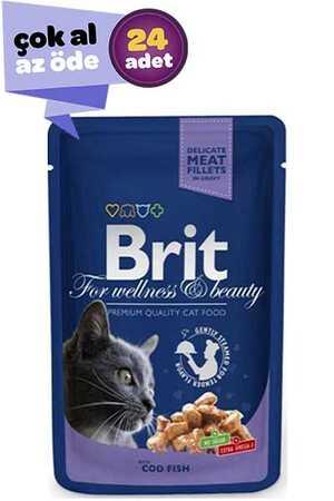 Brit Morina Balıklı Kedi Konservesi 24x100gr (24lü)