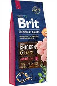 Brit Premium Nature Junior Büyük Irk Tavuklu Yavru Köpek Maması 15kg