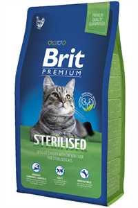 Brit Premium Tavuk ve Pirinçli Kısırlaştırılmış Yetişkin Kedi Maması 8kg