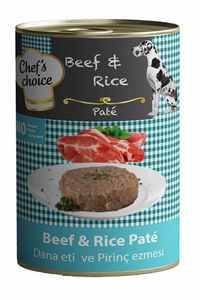 Chefs Choice Biftek ve Pirinçli Yetişkin Köpek Konservesi 400gr