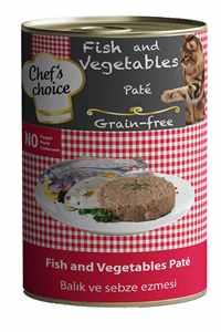Chefs Choice Tahılsız Balık ve Sebzeli Yetişkin Kedi Konservesi 400gr