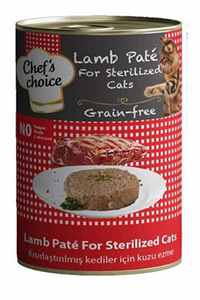 Chefs Choice Tahılsız Kuzu Etli Kısırlaştırılmış Kedi Konservesi 400gr