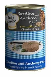 Chefs Choice Tahılsız Sardalya ve Hamsili Yetişkin Kedi Konservesi 400gr