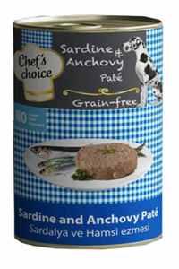 Chefs Choice Tahılsız Sardalya ve Hamsili Yetişkin Köpek Konservesi 400gr