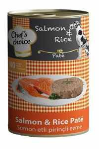 Chefs Choice Somonlu ve Pirinçli Yetişkin Köpek Konservesi 400gr