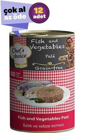 Chefs Choice Tahılsız Balık ve Sebzeli Yetişkin Kedi Konservesi 12x400gr (12li)