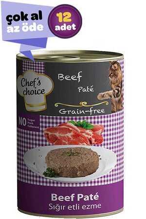 Chefs Choice Tahılsız Biftekli Yetişkin Kedi Konservesi 12x400gr (12li)