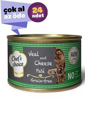 Chefs Choice Tahılsız Dana Eti ve Peynirli Yetişkin Kedi Konservesi 24x85gr (24lü)