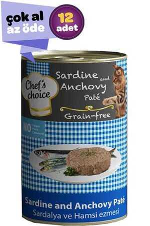 Chefs Choice Tahılsız Sardalya ve Hamsili Yetişkin Kedi Konservesi 12x400gr (12li)