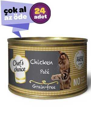 Chefs Choice Tahılsız Tavuk Etli Yetişkin Kedi Konservesi 24x85gr (24lü)