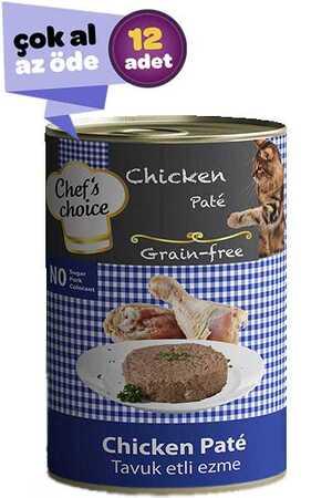 Chefs Choice Tahılsız Tavuklu Yetişkin Kedi Konservesi 12x400gr (12li)