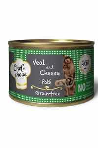 Chefs Choice Tahılsız Dana Eti ve Peynirli Yetişkin Kedi Konservesi 85gr