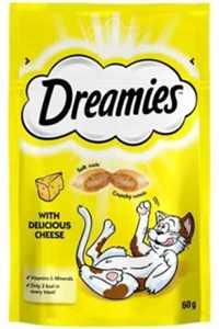 Dreamies İçi Dolgulu Peynirli Kıtır Kedi Ödül Maması 60gr