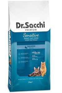 Dr.Sacchi Somonlu Hassas Yetişkin Kedi Maması 15kg