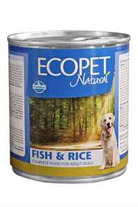Ecopet Natural Balık ve Pirinçli Yetişkin Köpek Konservesi 300gr