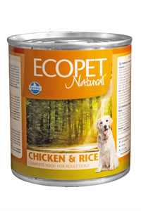 Ecopet Natural Tavuk ve Pirinçli Yetişkin Köpek Konservesi 300gr