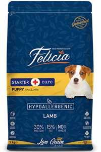 Felicia Düşük Tahıllı Hipoalerjenik Kuzu Etli Küçük ve Orta Irk Yavru Köpek Maması 3kg