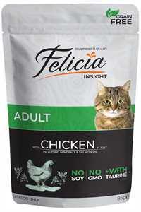 Felicia Tahılsız Tavuk Etli Yetişkin Kedi Konservesi 85gr