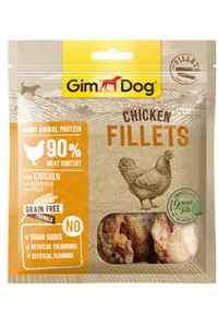 Gimdog Tavuklu ve Yeşil Çaylı Tahılsız Fileto Köpek Ödülü 60gr