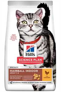 Hills Hairball Indoor Tüy Yumağı Önleyici Tavuklu Yetişkin Kedi Mamasi 1,5kg