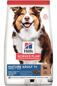 Hills Kuzu Etli Orta Irk Yaşlı Köpek Maması 14kg
