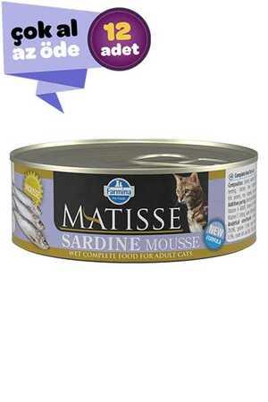 Matisse Sardalyalı Yetişkin Kedi Konservesi 12x85gr (12li)