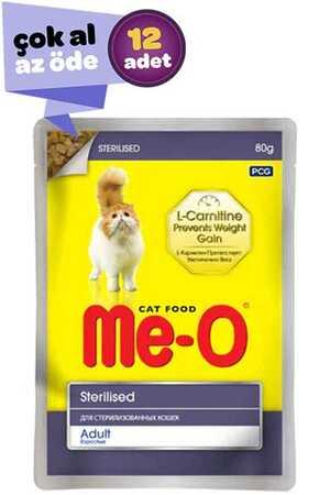 Me-O Tavuk Etli Kısırlaştırılmış Kedi Konservesi 12x80gr (12li)