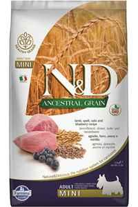 ND Ancestral Grain Düşük Tahıllı Kuzu Eti ve Yaban Mersinili Küçük Irk Yetişkin Köpek Maması 2,5kg