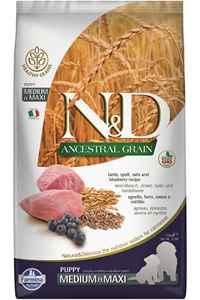 ND Ancestral Grain Düşük Tahıllı Kuzu Eti ve Yaban Mersinli Orta ve Büyük Irk Yavru Köpek Maması 2,5kg