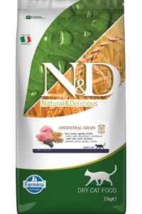 ND Düşük Tahıllı Kuzu Eti ve Yaban Mersinli Yetişkin Kedi Maması 10kg