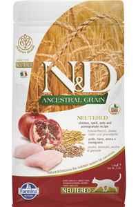 ND Ancestral Grain Düşük Tahıllı Tavuk ve Narlı Kısırlaştırılmış Kedi Maması 1,5kg