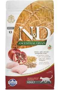 ND Ancestral Grain Düşük Tahıllı Tavuk ve Narlı Yetişkin Kedi Maması 1,5kg