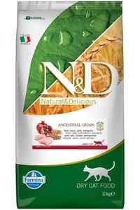 ND Ancestral Grain Düşük Tahıllı Tavuk ve Narlı Yetişkin Kedi Maması 10kg