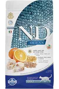 ND Ocean Düşük Tahıllı Morina Balığı ve Portakallı Yetişkin Kedi Maması 1,5kg