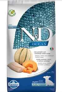 N&D Ocean Morina Balığı Balkabak ve Kavunlu Mini Irk Yavru Köpek Maması 7kg