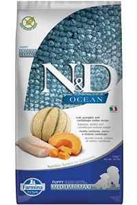 ND Ocean Morina Balığı Balkabağı ve Kavunlu Medium Maxi Yavru Köpek Maması 12kg
